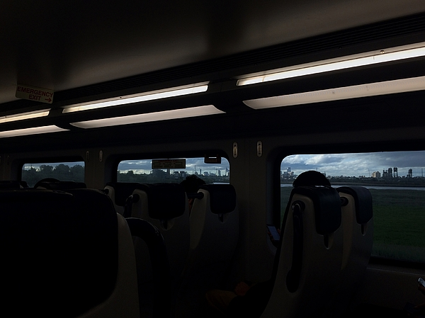 Empty Passenger Train Seats With Illuminated Lights Photograph by Philippe Intraligi / EyeEm
