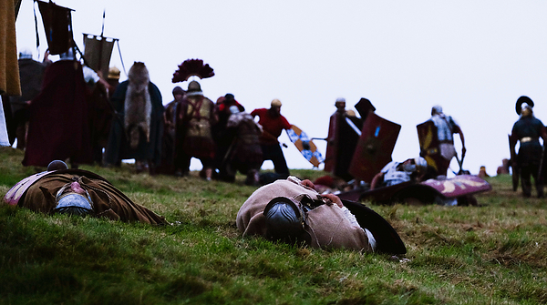 Enthusiasts Re-enact Roman Times At Hadrians Wall Photograph by Ian Forsyth