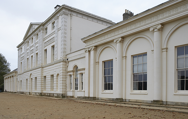 Europe, Great Britain, England, London, Hampstead, Kenwood House, extension housing the library in the foreground Photograph by Steve Gorton