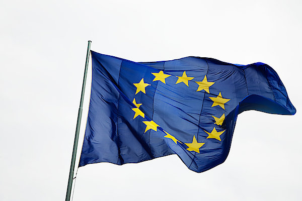 European community flag Photograph by Image Source