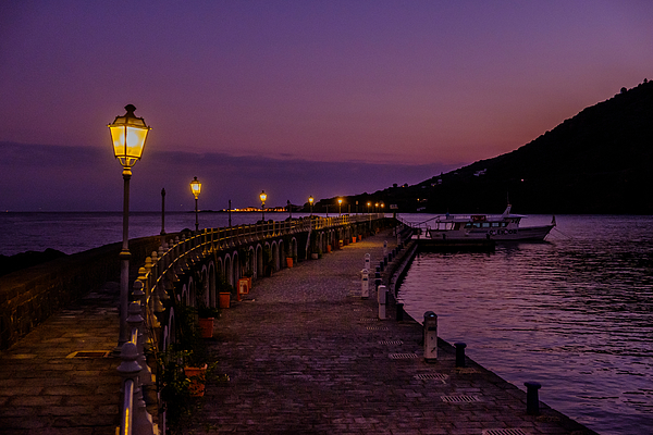 Evening In The Harbour Of The Aeolian Island Of Salina Photograph by Finn Bjurvoll Hansen