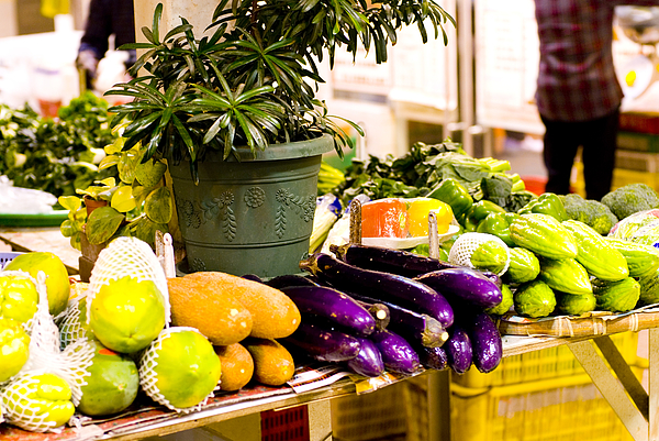 Exotic fruits fro sale on market stall Photograph by Lyn Holly Coorg