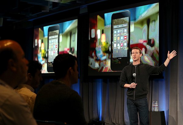 Facebook Announces New Launcher Service For Android Phones Photograph by Justin Sullivan