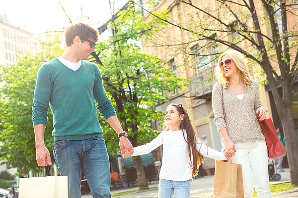 Family in shopping Photograph by Georgijevic