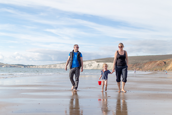 Family time, Compton Bay, Isle of Wight Photograph by s0ulsurfing - Jason Swain
