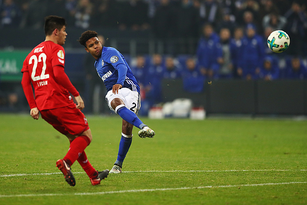 FC Schalke 04 v 1. FC Koeln - DFB Cup Photograph by Dean Mouhtaropoulos