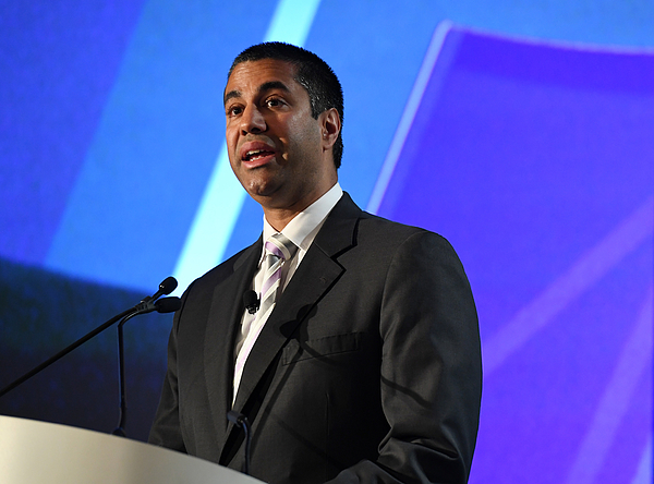 Federal Communications Commission Chairman Ajit Pai Addresses 2017 NAB Show In Las Vegas Photograph by Ethan Miller