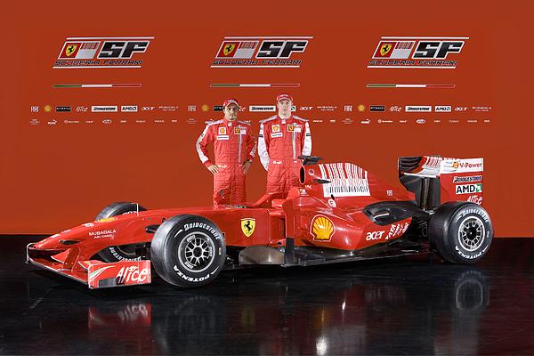 Ferrari F60 Formula One 2009 Season Car Is Launched Photograph by Handout