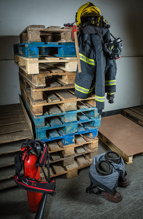 Firefighter Equipment Ready For Intervention Photograph by Doble.d