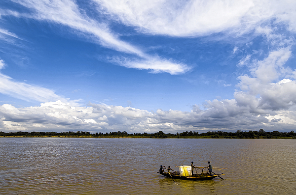 Fishermen boat sailing in Bhagirathi river Photograph by Dilwar Mandal