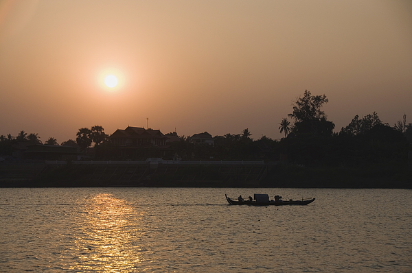 Fishermen on the Mekong River, Phnom Penh, Cambodia, Indochina, Southeast Asia, Asia Photograph by Robert Harding / robertharding