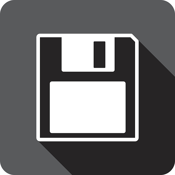 Floppy Disk Icon Silhouette Drawing by JakeOlimb