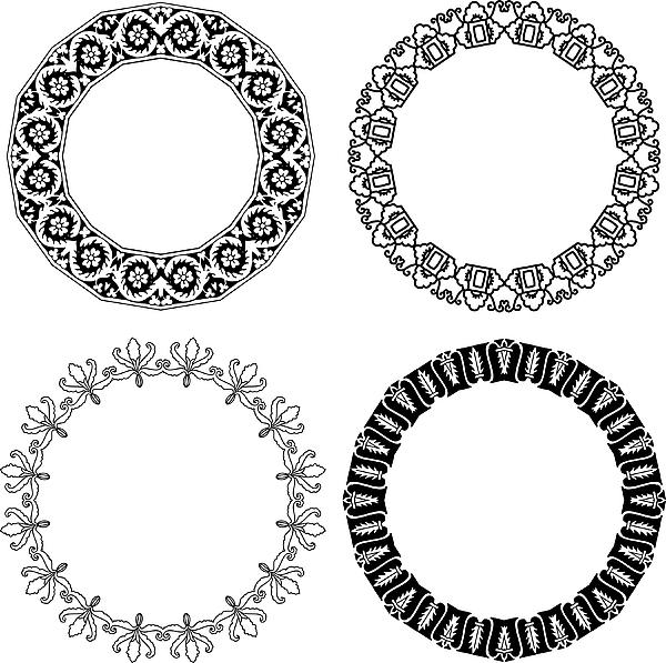 Flower ornamental rings Drawing by Ninochka