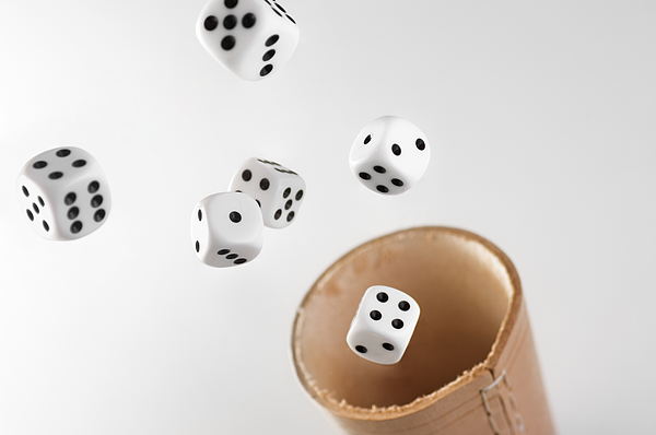 Flying Dices Photograph by daitoZen