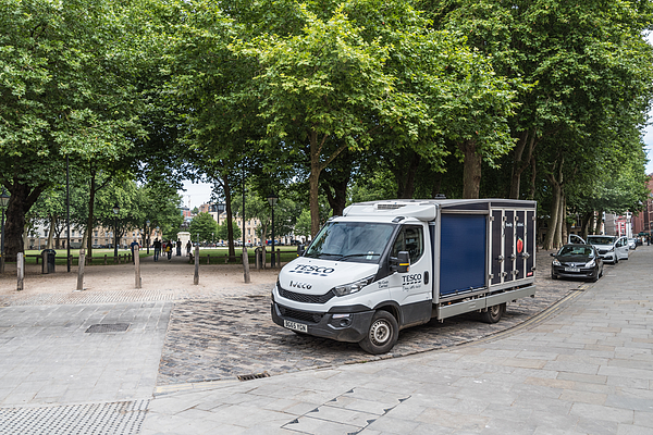 Food delivery van in Bristol Photograph by Thomas Faull