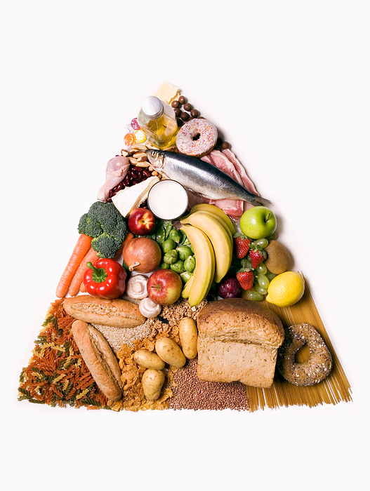 Food pyramid Photograph by Image Source
