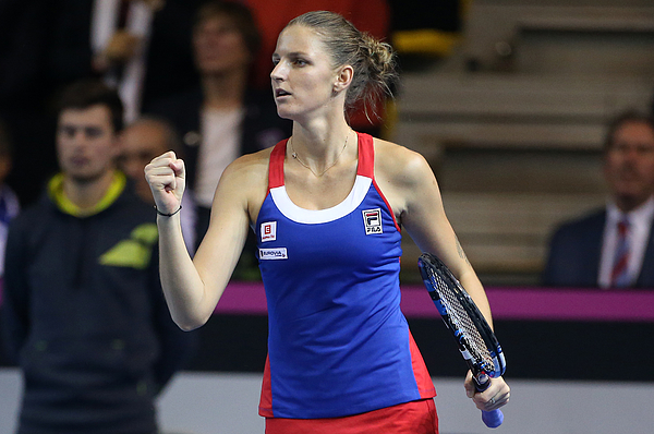 France V Czech Republic - Fed Cup Final Day 2 Photograph by Jean Catuffe
