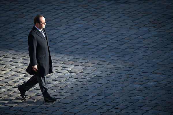 French President Francois Hollande Attends A Military Review Photograph by Thierry Orban