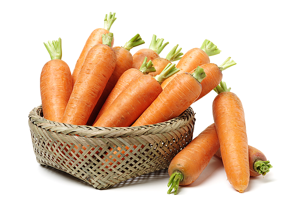 Fresh carrot on a white background Photograph by Chengyuzheng