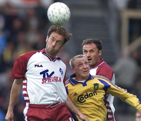 FUSSBALL: 1. Qualifikationsspiel zur Champions League 00/01 Kopenhagen, 08.08.00 Photograph by Bongarts