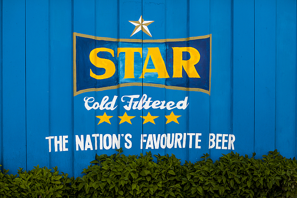 Ghanas Star Beer freshly painted on wall Photograph by Merten Snijders