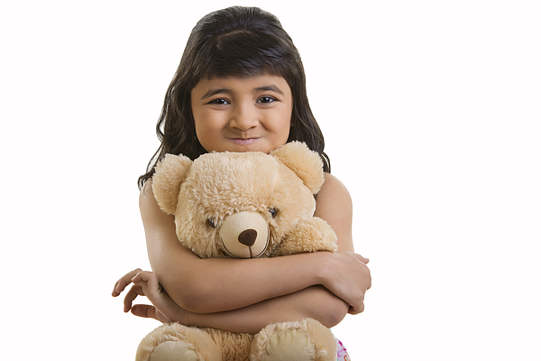 Girl with teddy bear Photograph by Madhurima Sil