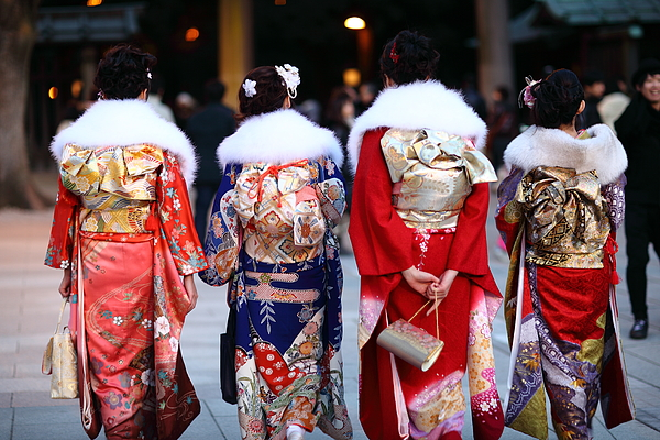 Girls in kimono Photograph by SHENYANGs PHOTO. ALL RIGHTS RESERVED.