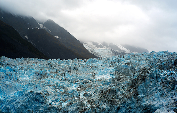 Glacier with mountain Photograph by Pete Lomchid