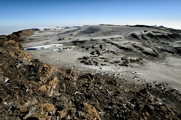 Glaciers And Reusch Crater From Uhuru Peak, Kilimanjaro National Park Photograph by © Pascal Boegli