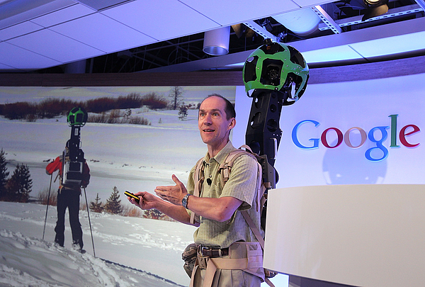 Google Holds News Conference Photograph by Justin Sullivan