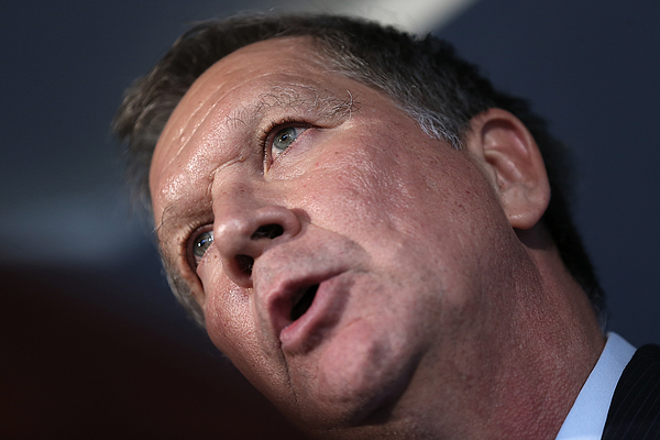 GOP Presidential Candidate Gov. John Kasich Holds Outlines His New National Security Strategy Photograph by Win McNamee