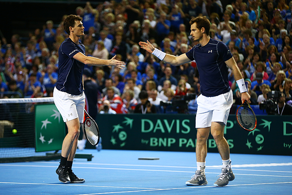 Great Britain v Japan - Davis Cup: Day Two Photograph by Jordan Mansfield