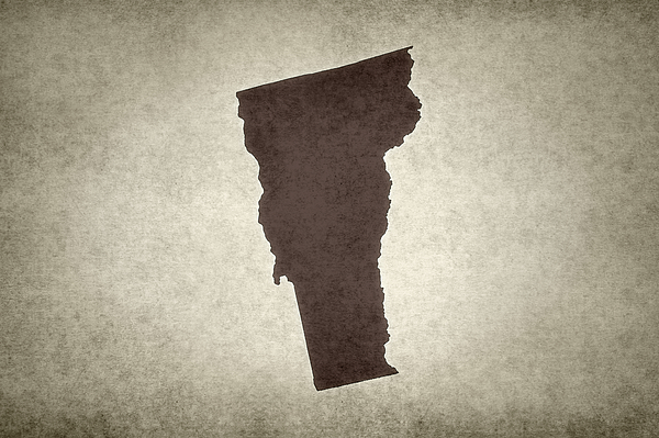 Grunge map of the state of Vermont Photograph by Gwengoat