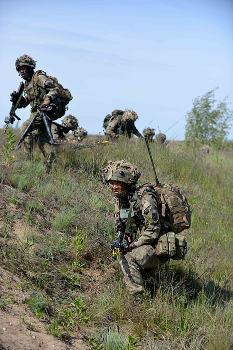 Gurkhas Lead UK Contribution To NATO Exercise In Latvia Photograph by Handout