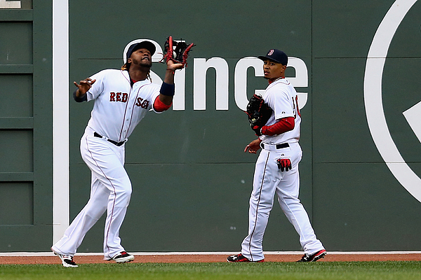 Hanley Ramirez and Mookie Betts Photograph by Maddie Meyer