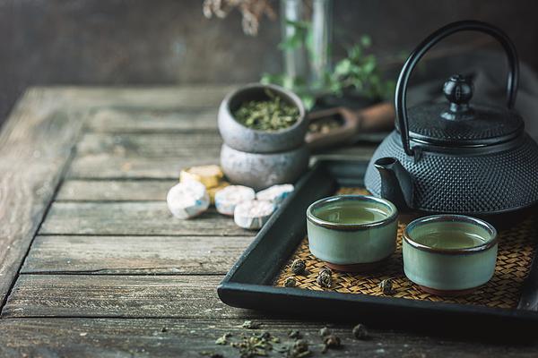 Healthy green tea Photograph by Roxiller