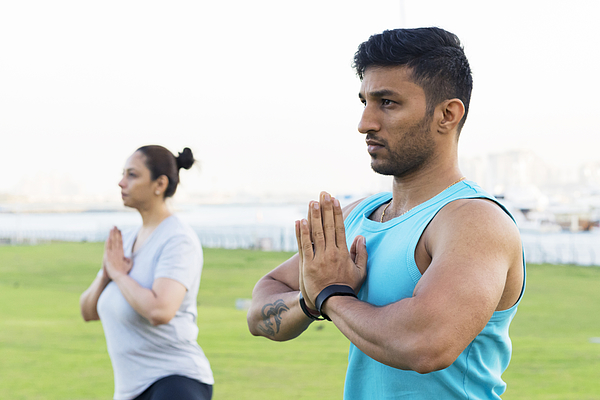 Healthy lifestyle begins with positive attitude and yoga leads us there! Photograph by GCShutter