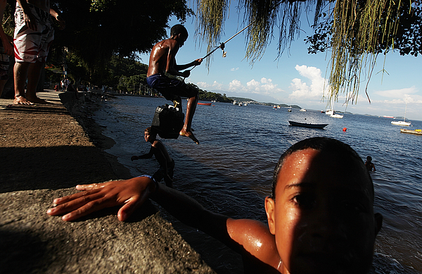 Heavily Polluted Guanabara Bay To Be Site For Water Sports At Rio Summer Olympics Photograph by Mario Tama