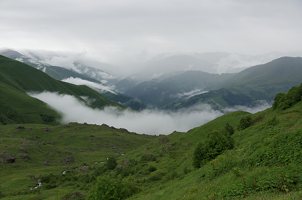 Heavy clouds over Abudelauri Valley, Caucasus Mountains, Georgia Photograph by Vyacheslav Argenberg