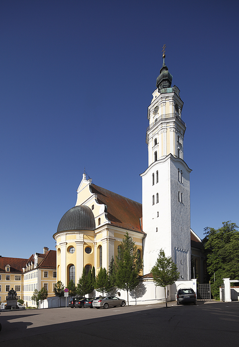 Heilig-Kreuz-Kirche church, Donauwoerth, Donauried, Swabia, Bavaria, Germany, Europe Photograph by Martin Siepmann