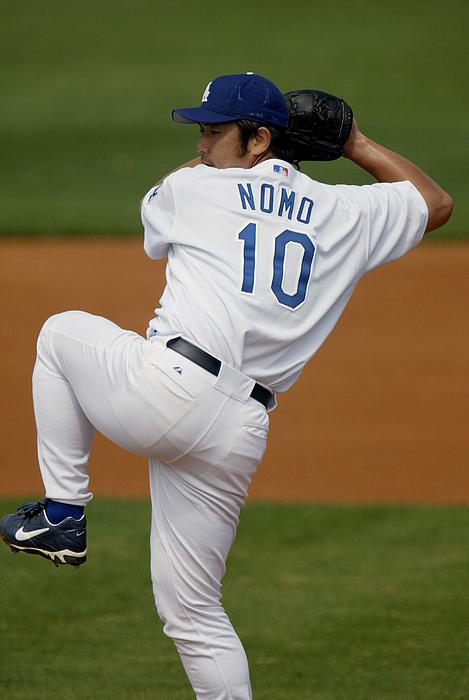 Hideo Nomo Photograph by Eliot J. Schechter