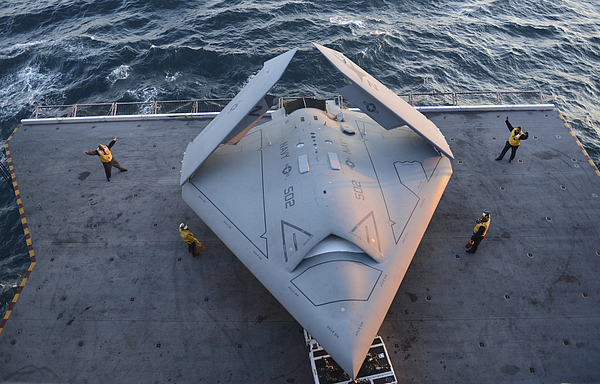 High Angle View Of An Unmanned Combat Air System. Photograph by Stocktrek Images