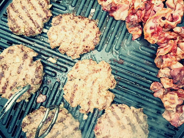 High Angle View Of Meat Being Grilled On Barbecue Photograph by Roman Pretot / EyeEm