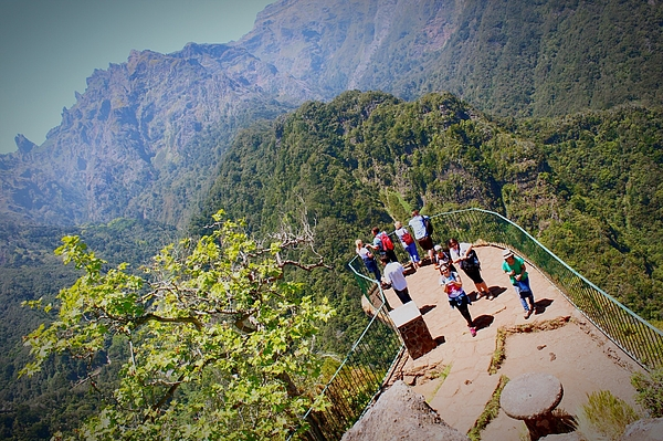 High Angle View Of People At Observation Point Against Mountains Photograph by Sandra Vieira / EyeEm