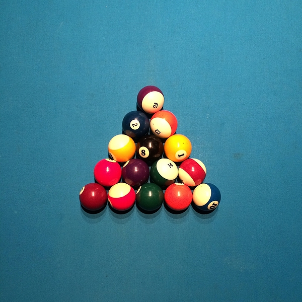 High Angle View Of Pool Balls On Table Photograph by David Crunelle / EyeEm