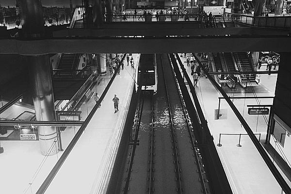 High Angle View Of Train At Railroad Station Photograph by Damian Cabrera / EyeEm