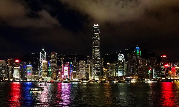 Hong Kong Waterfront At Night II Photograph by Vsojoy