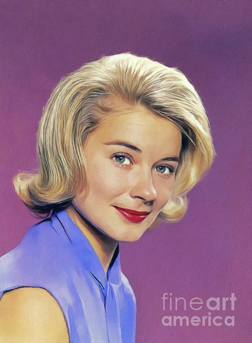 Hope Painting - Hope Lange, Vintage Actress by John Springfield