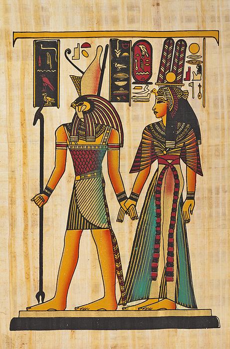 Horus and Nefertiti Drawing by ewg3D