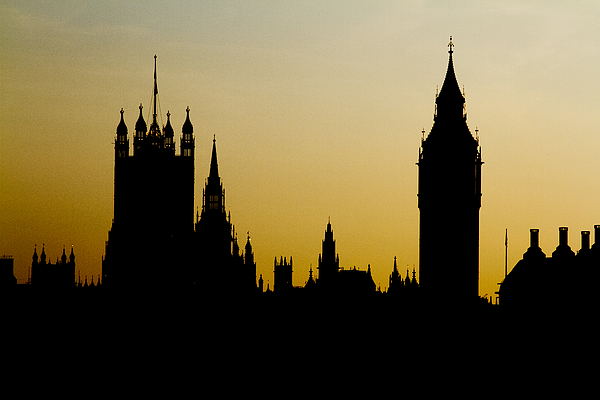 Houses Of Parliament At Sunset Photograph by Amer Ghazzal